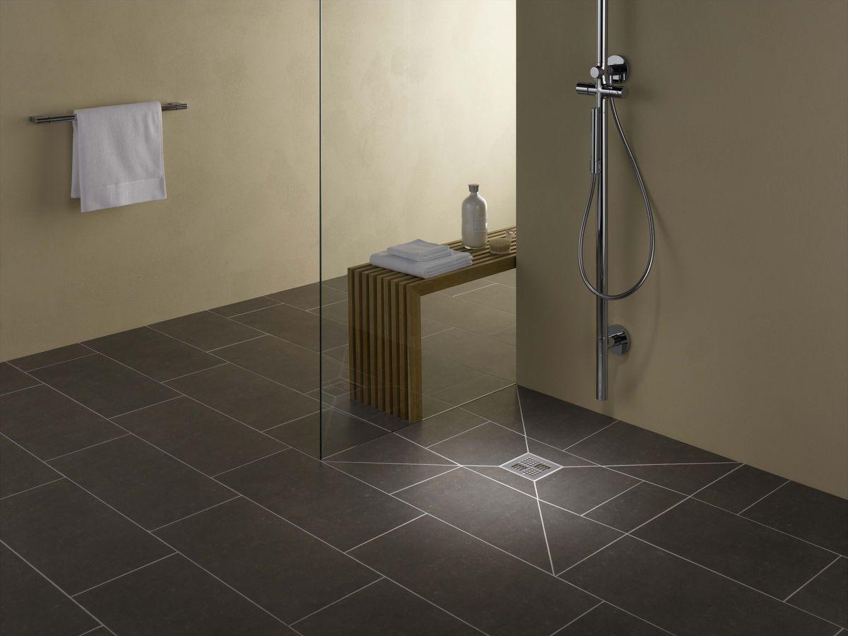 Bodengleiche duschwanne mit extra flachem ablaufsystem  Marc Waser Platten und Natursteinbelaege GmbH